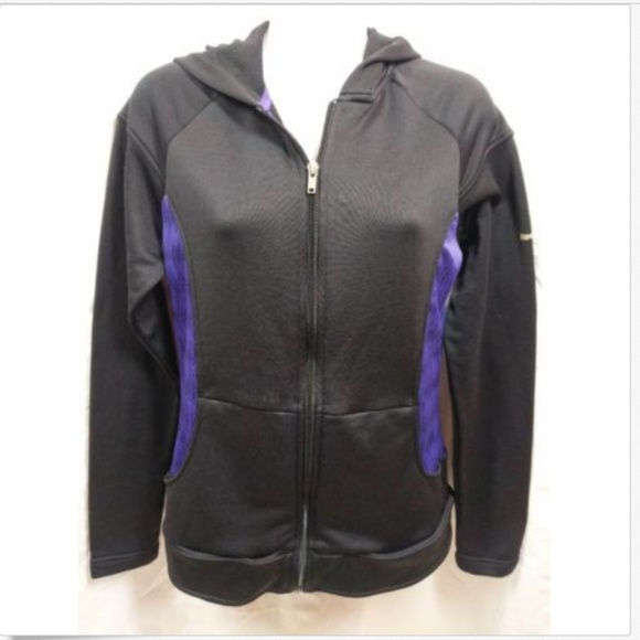 f5b9c3e6b3 Reebok Play Dry Full Zip Warm Up Lined Jacket Hood